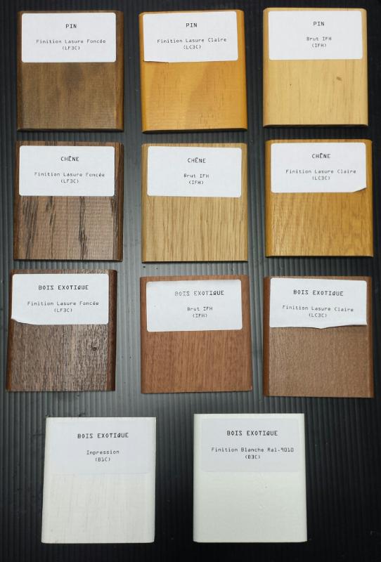 teintes bois